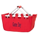 Monogrammed Market Basket, Red