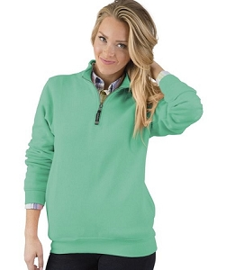 Monogrammed Crosswinds Pullover Sweatshirt in Mint