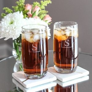 Set of 4 Personalized Highball Glasses
