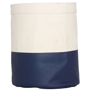 Monogrammed Canvas Mini Bucket in Navy