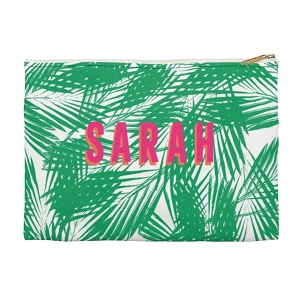 Monogrammed Clutch - Palm Leaves Green (Small)