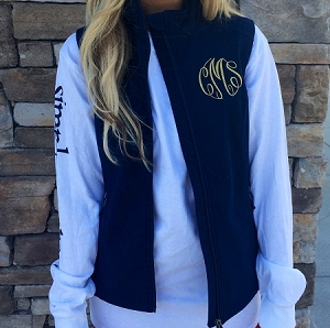 Monogrammed Classic Soft Shell Vest