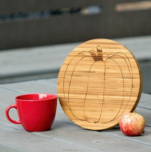 Bamboo Cutting Board - Pumpkin