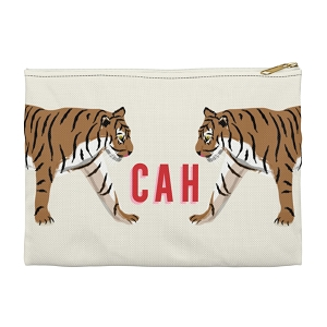 Monogrammed Clutch - Tiger Duo (Large)
