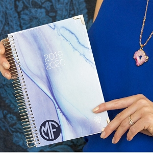 2019-2020 Academic Year Planner - Blue Watercolor