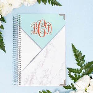 2019-2020 Academic Year Planner - Mint Color Blocking Marble