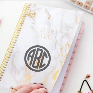 2019-2020 Academic Year Planner - Pink Marble