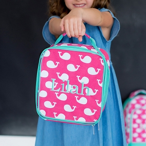 Monogrammed Lunch Bag - Whales