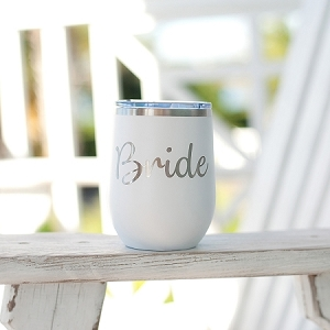 Insulated Wine Tumbler - Bride