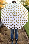 Monogrammed Gold Dot Umbrella