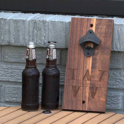 Beer Bottle Opener - Walnut