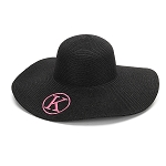 Monogrammed Floppy Hat, Black