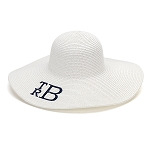 Monogrammed Floppy Hat, White