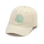Monogrammed baseball cap, Natural