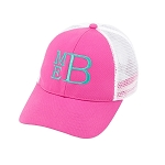 Monogrammed Trucker Hat - Hot pink