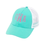 Monogrammed Trucker Hat - Mint