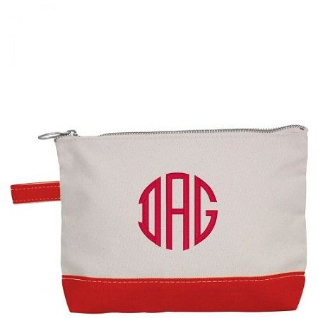 Canvas Cosmetic Bag - Red