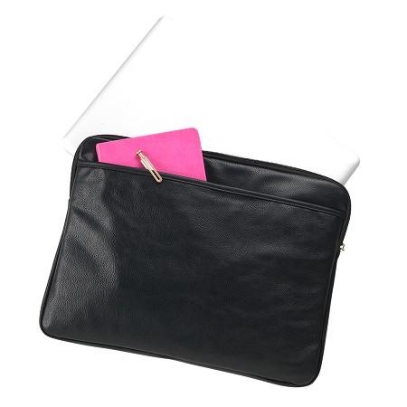Monogrammed Laptop Sleeve, Black