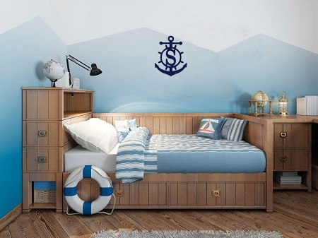 Wooden Anchor Monogram