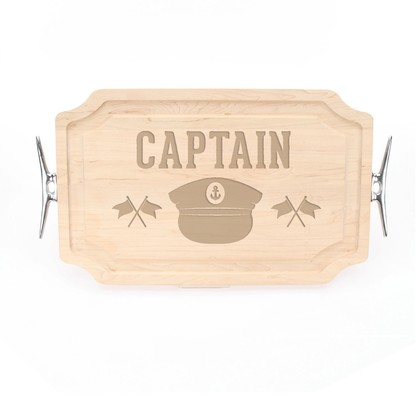 Maple Carving Board - Oh Captain, My Captain