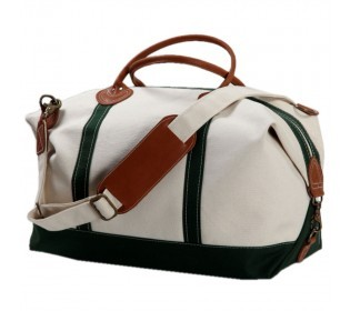 Monogrammed Canvas Weekender - Green