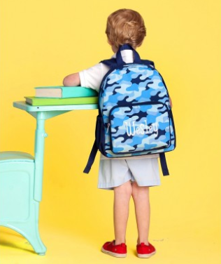 WB Monogrammed PRESCHOOL Backpack - Cool Camo