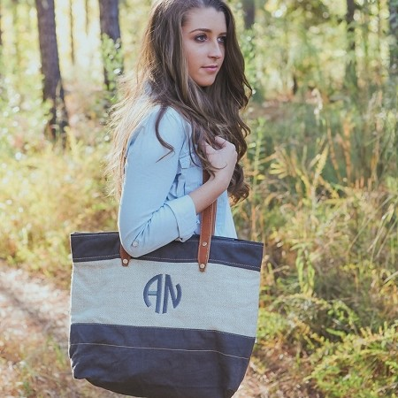 Monogrammed Lundy St Tote