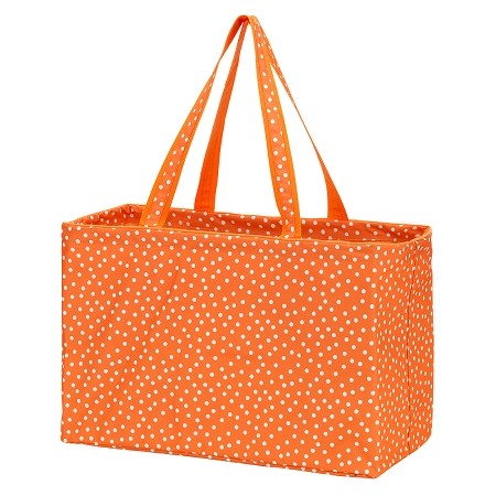 Monogrammed Ultimate Tote - Orange Dot