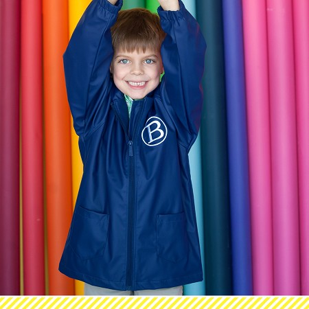 Kids Rain Jacket - Navy