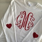 Monogrammed Heart Elbow Patch Tee
