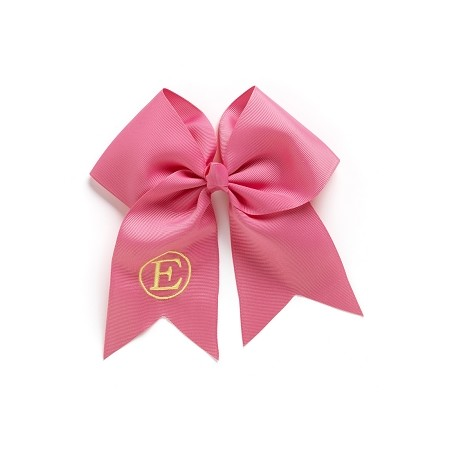 Monogrammed Bow  - Hot Pink