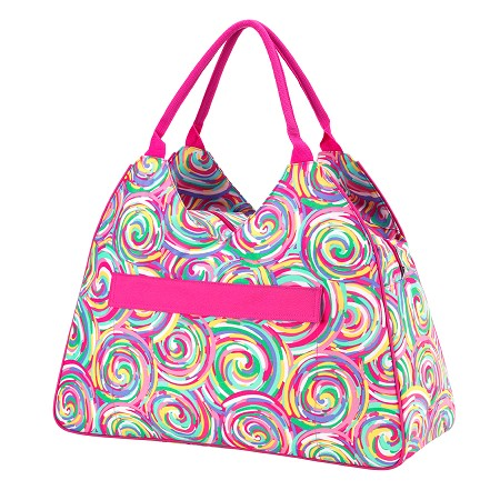 Monogrammed Beach Bag - Summer Sorbet