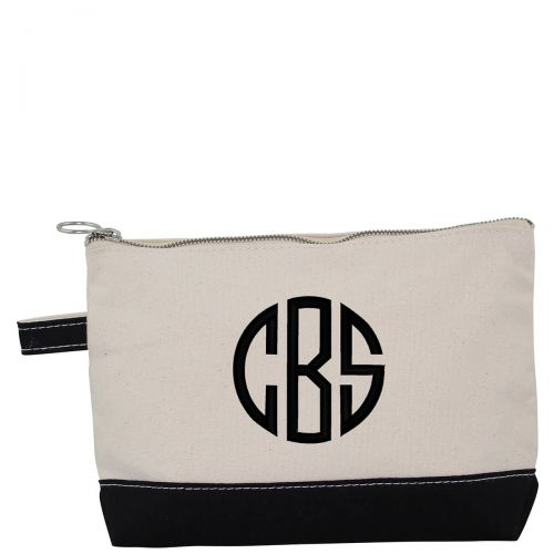 Canvas Cosmetic Bag - Black