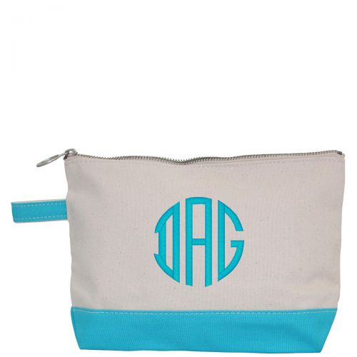 Canvas Cosmetic Bag - Turquiose