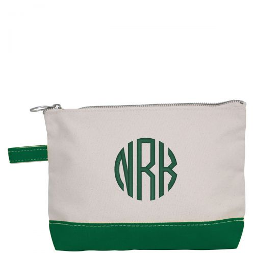 Canvas Cosmetic Bag - Emerald