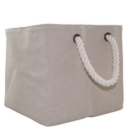 Monogrammed Jute Storage Bin with Rope Handles, size Small