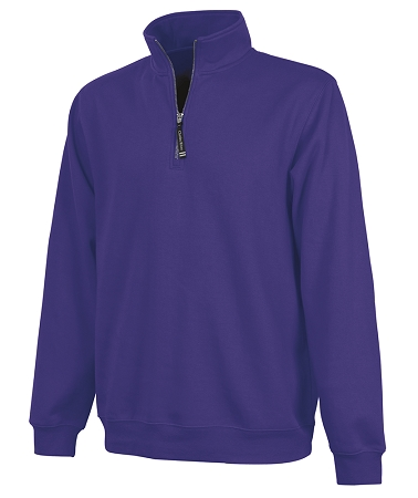 Monogrammed Crosswinds Pullover Sweatshirt in Purple