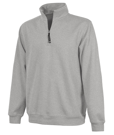 Monogrammed Crosswinds Pullover Sweatshirt in Oxford Heather