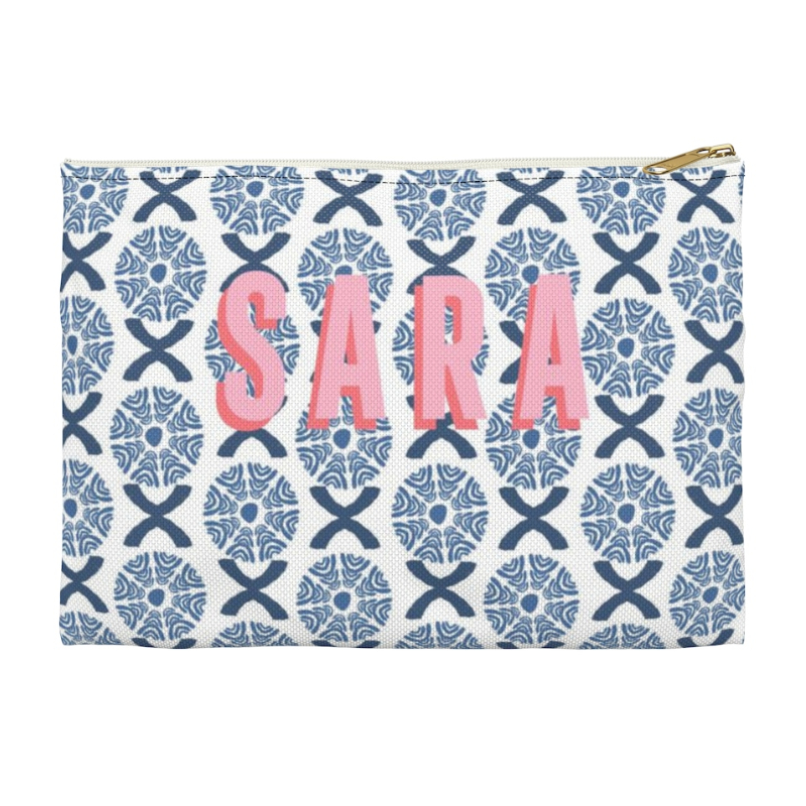 Monogrammed Camille Blue Clutch - 2 Sizes Available