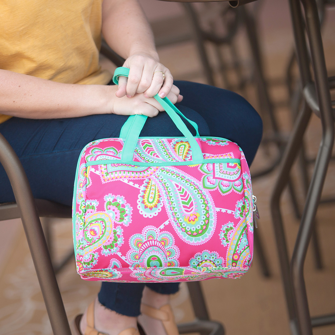 Monogrammed Lunch Tote - Lizzie