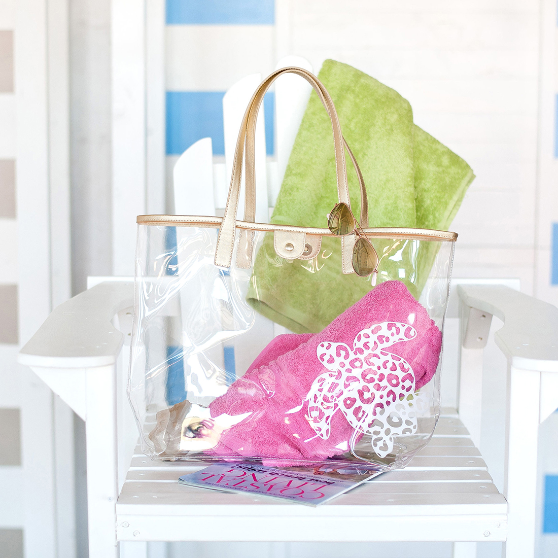 Monogrammed Clear Purse - Turtle Retreat