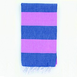 Turkish Towel - Pink Navy