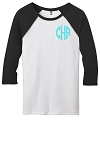 Monogram Baseball Jersey - Black