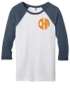 Monogram Baseball Jersey - Heathered Navy
