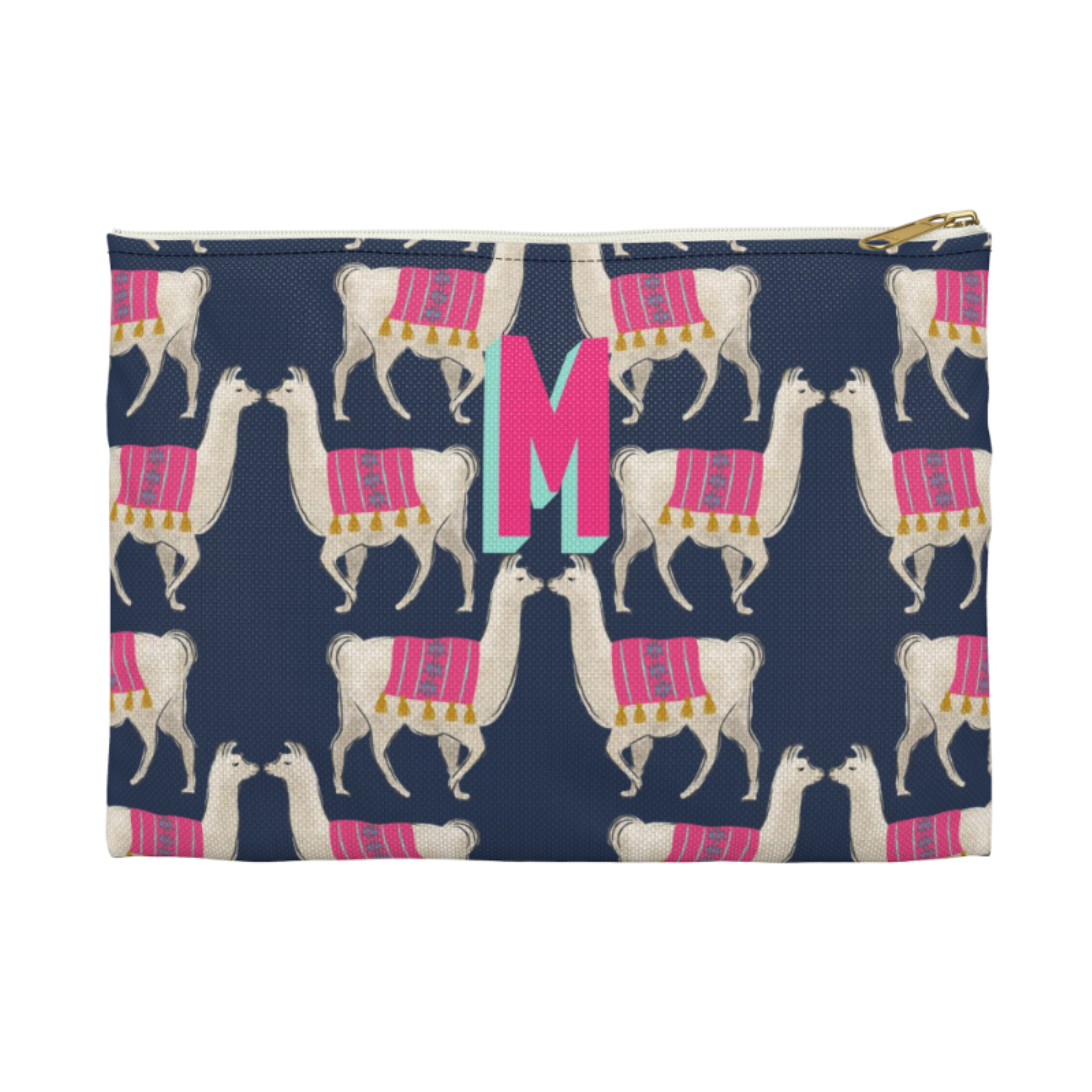 Monogrammed Llama Clutch - More Options Available