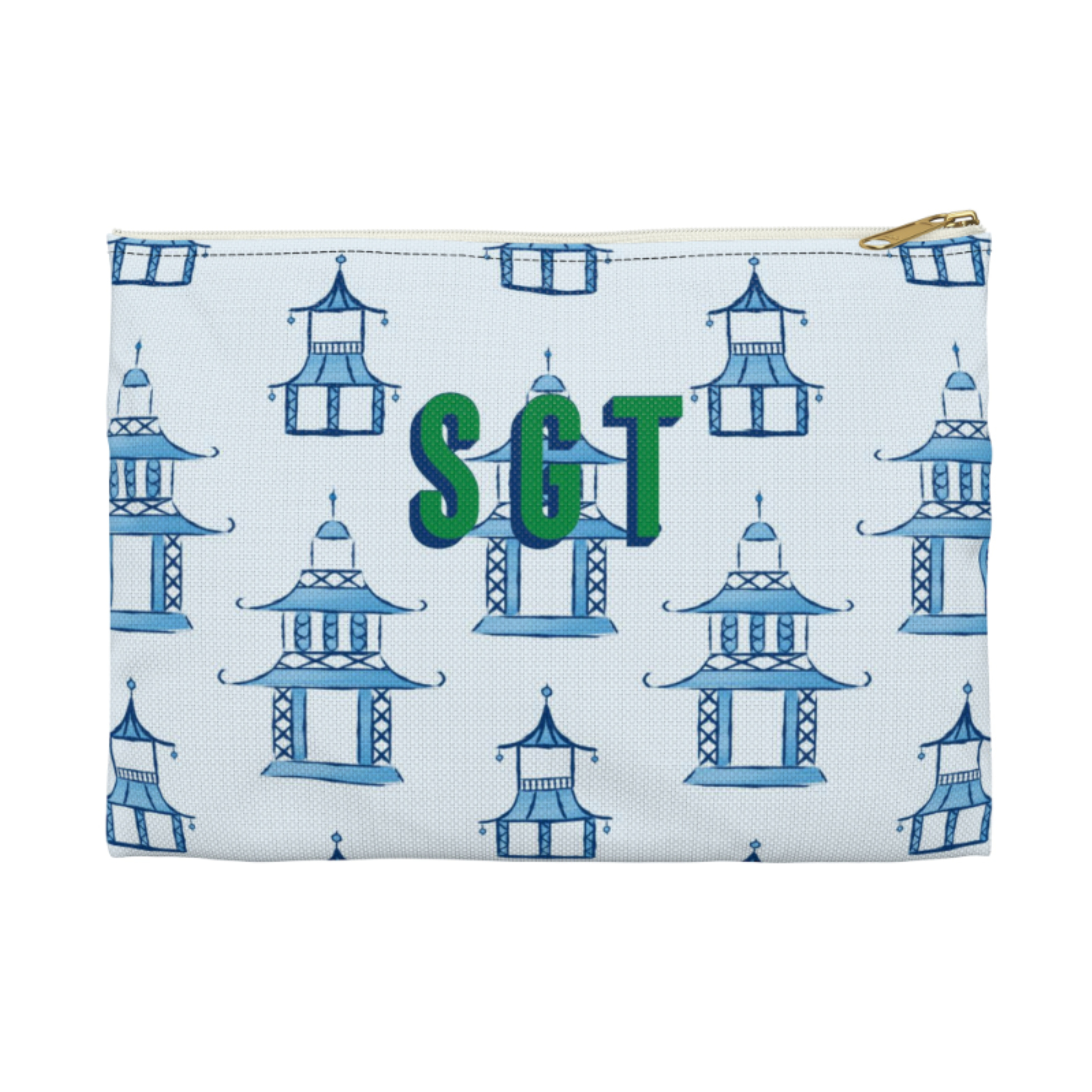Monogrammed Pagoda Clutch - 2 Sizes Available