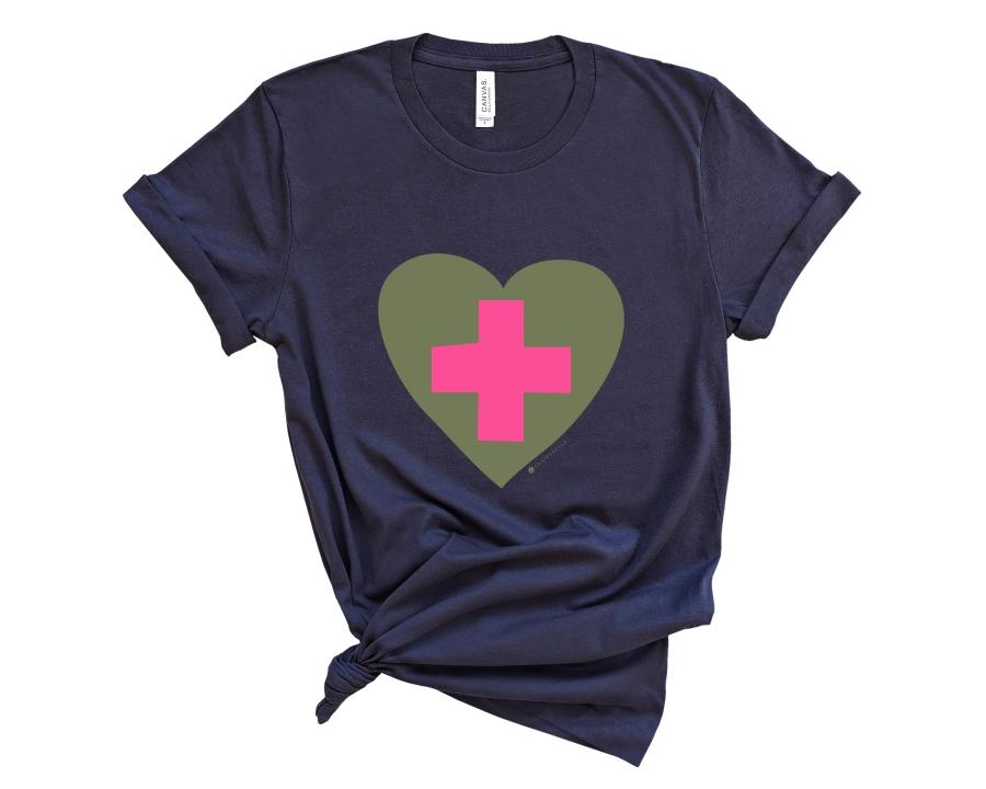We Love Healthcare Workers T-Shirt (More colors available!)
