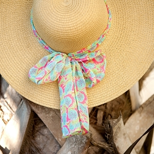 Monogrammed Accent Scarf - Totally Tropics