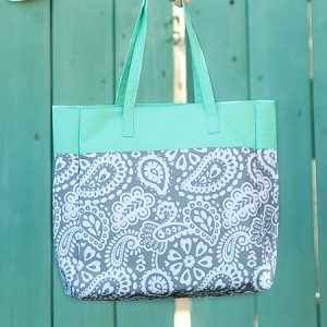 Monogrammed Patterned Tote - Parker Paisley
