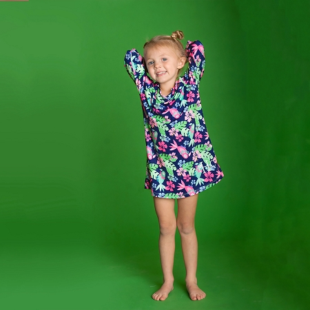 Monogrammed Girls' Tunic - Tropi-Cool
